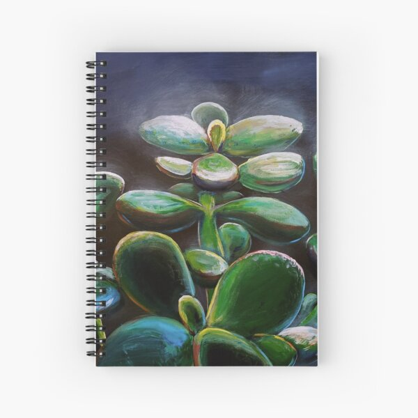 Jade Plant Painting - Paletteless Spiral Notebook