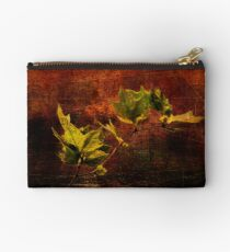 Leaves on Texture Studio Pouch