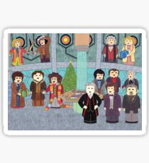 Doctor Who Christmas - Doctors' Reunion Sticker