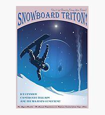 Space Travel Poster - Snowboard Triton! Photographic Print