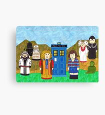 6th Doctor and his companion Peri Canvas Print