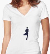 Yoga Women's Fitted V-Neck T-Shirt