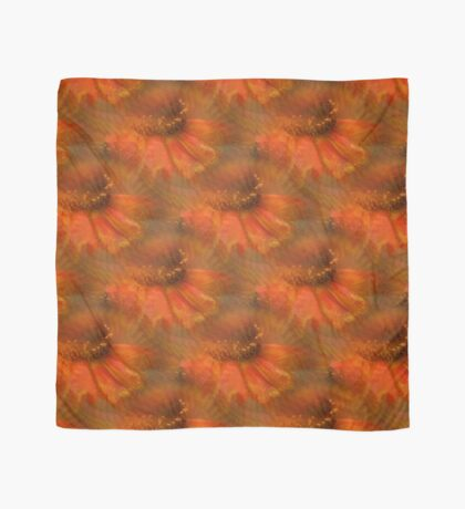 Abstract Orange Daisy Flower Pattern Scarf