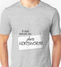 if lost return to: chris hemsworth T-Shirt