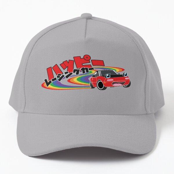 Happy Racing Car Miata Baseball Cap