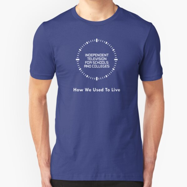 NDVH Independent Television For Schools And Colleges - 1980s Slim Fit T-Shirt