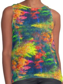 Red Yellow Green Abstract Colors Contrast Tank