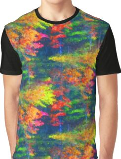 Red Yellow Green Abstract Colors Graphic T-Shirt