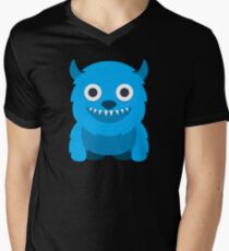 Blue Monster geek art Men's V-Neck T-Shirt