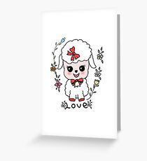 ovejita alegre Greeting Card
