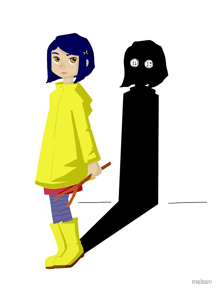 Coraline And The Evil Shadow Baby One Piece By Malsan Redbubble
