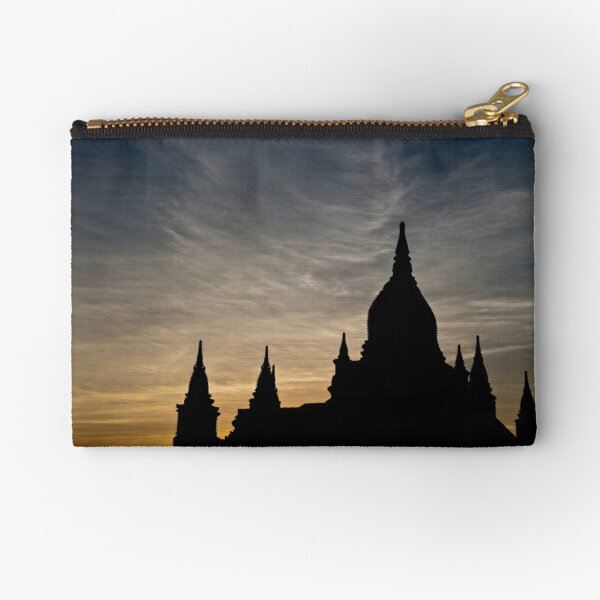 Bagan Temple at sunset Zipper Pouch
