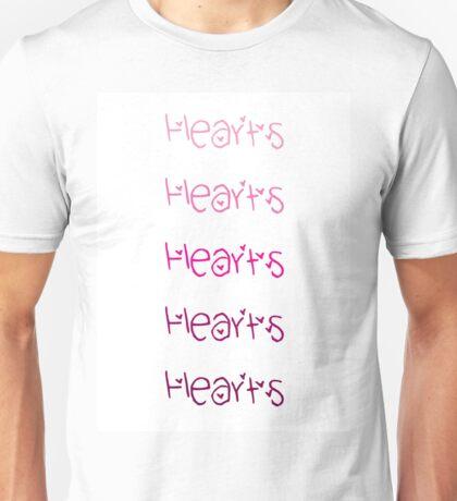 Hearts(x5) Unisex T-Shirt