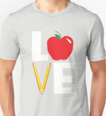 Love Teaching Cute Teacher Appreciation Unisex T-Shirt