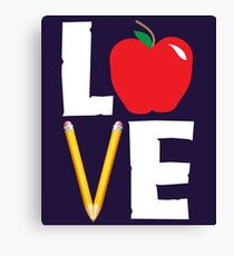 Love Teaching Cute Teacher Appreciation Canvas Print