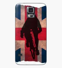 Cycling Sprinter on UK Flag Case/Skin for Samsung Galaxy