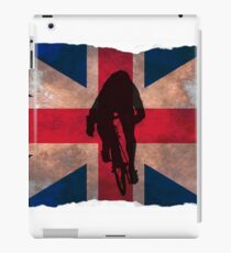 Cycling Sprinter on UK Flag iPad Case/Skin