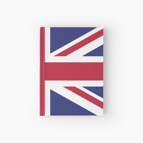 Union Jack UK Brexit logo Hardcover Journal