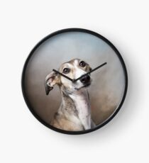 Lotti saluki lurcher Clock