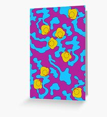Rubber ducks on purple Greeting Card