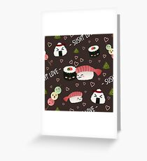 Sushi and Friends Greeting Card
