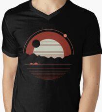 Einsamkeit T-Shirt mit V-Ausschnitt für Männer