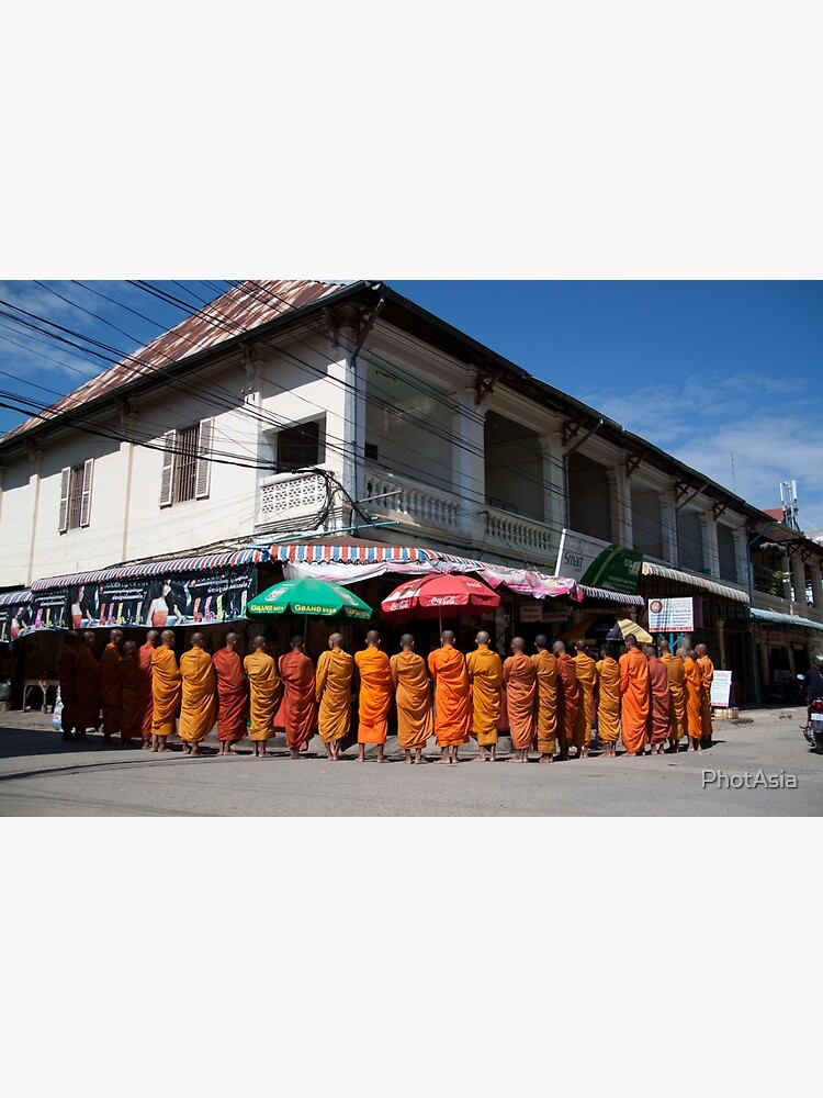 Monks collecting Alms  by PhotAsia