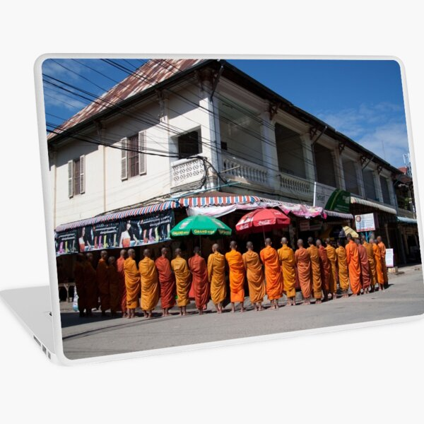 Monks collecting Alms  Laptop Skin