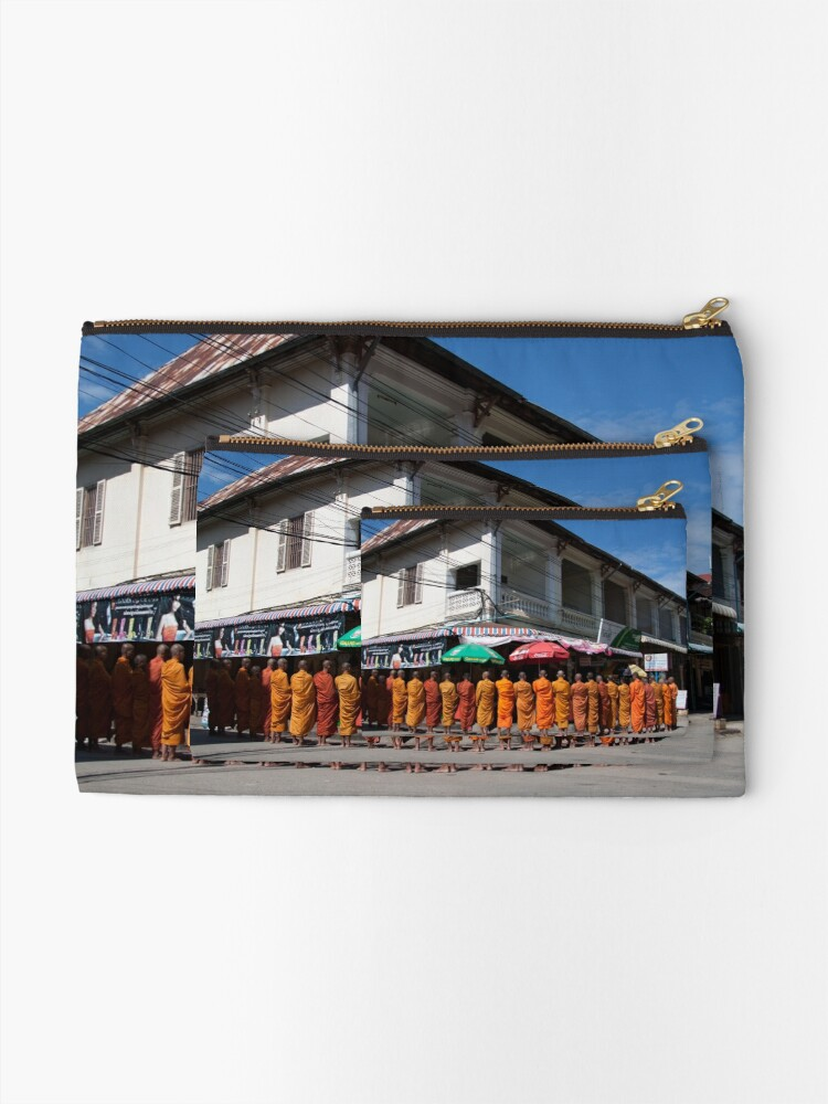 Alternate view of Monks collecting Alms  Zipper Pouch