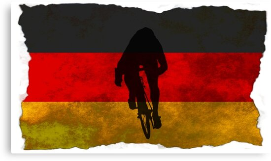 Cycling Sprinter on German Flag by AKindChap