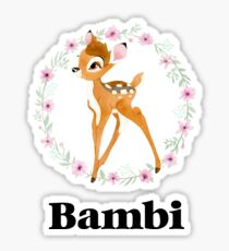 Bambi - Black Sticker