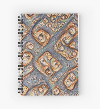 Frozen bubbles #DeepDream Spiral Notebook