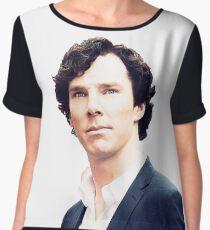 Sherlock print Chiffon Top