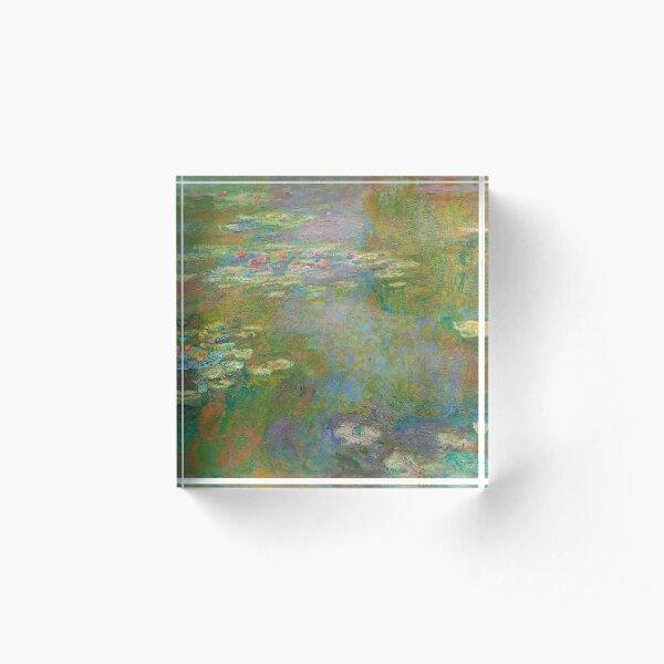 Water Lilies Acrylic Block