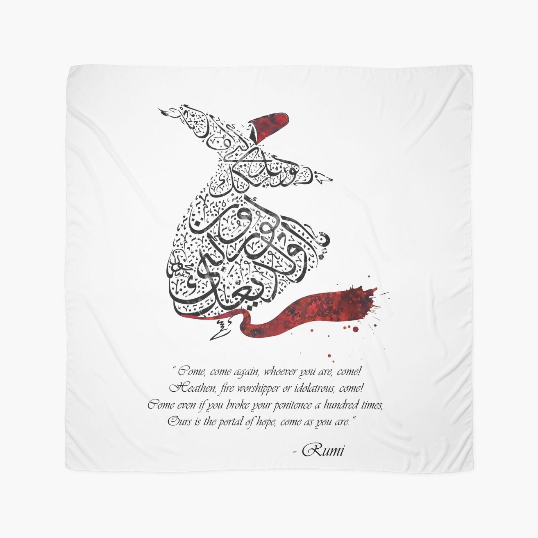 "Quotes Calligraphy Rumi Quotes Calligraphy Vertical"" Scarveshermesartstudio"
