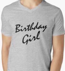 Birthday Girl BLACK Mens V Neck T Shirt