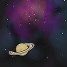 Saturn - Alien Ring Planet and Galaxy by the vexed  muddler
