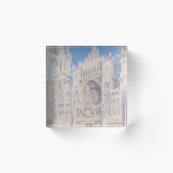 Rouen Cathedral, the Portal Acrylic Block