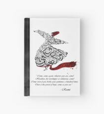 Rumi Quotes Calligraphy Vertical Hardcover Journal