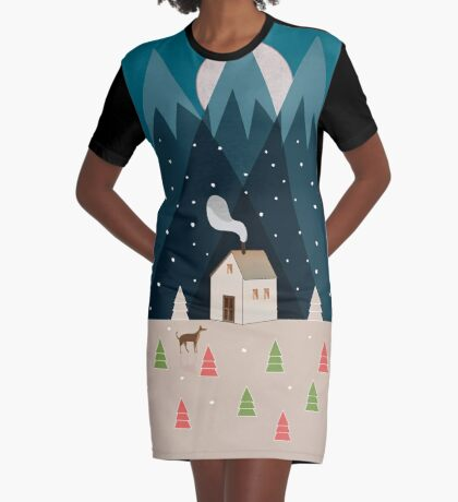 Winterworm Graphic T-Shirt Dress