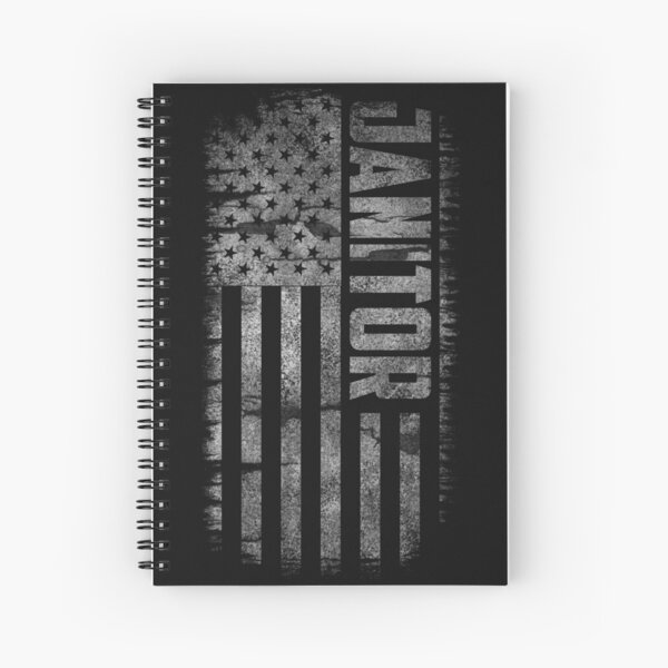 Janitor USA Flag Spiral Notebook