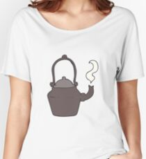 cartoon old black kettle Women's Relaxed Fit T-Shirt