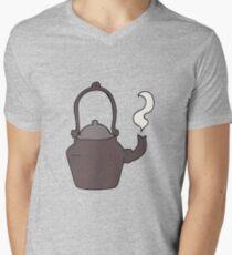 cartoon old black kettle Mens V-Neck T-Shirt