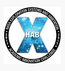 X-Hab 2017 Competition Logo Photographic Print
