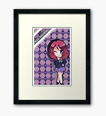 school girl anime chibi Framed Print