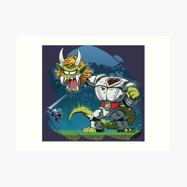 Ghosts' n Goblins Art Print