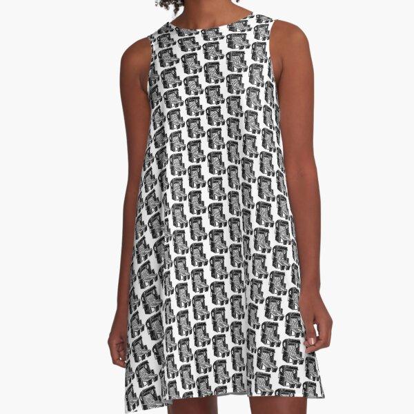 Strandkorb Illustration von Clarissa Schwarz A-Linien Kleid