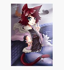 Neko Anime Girl Photographic Print