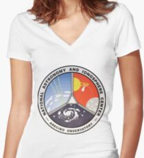 National Astronomy and Ionosphere Center (NAIC) Logo Women's Fitted V-Neck T-Shirt