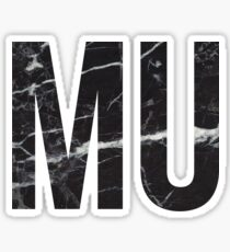 black marble mu Sticker
